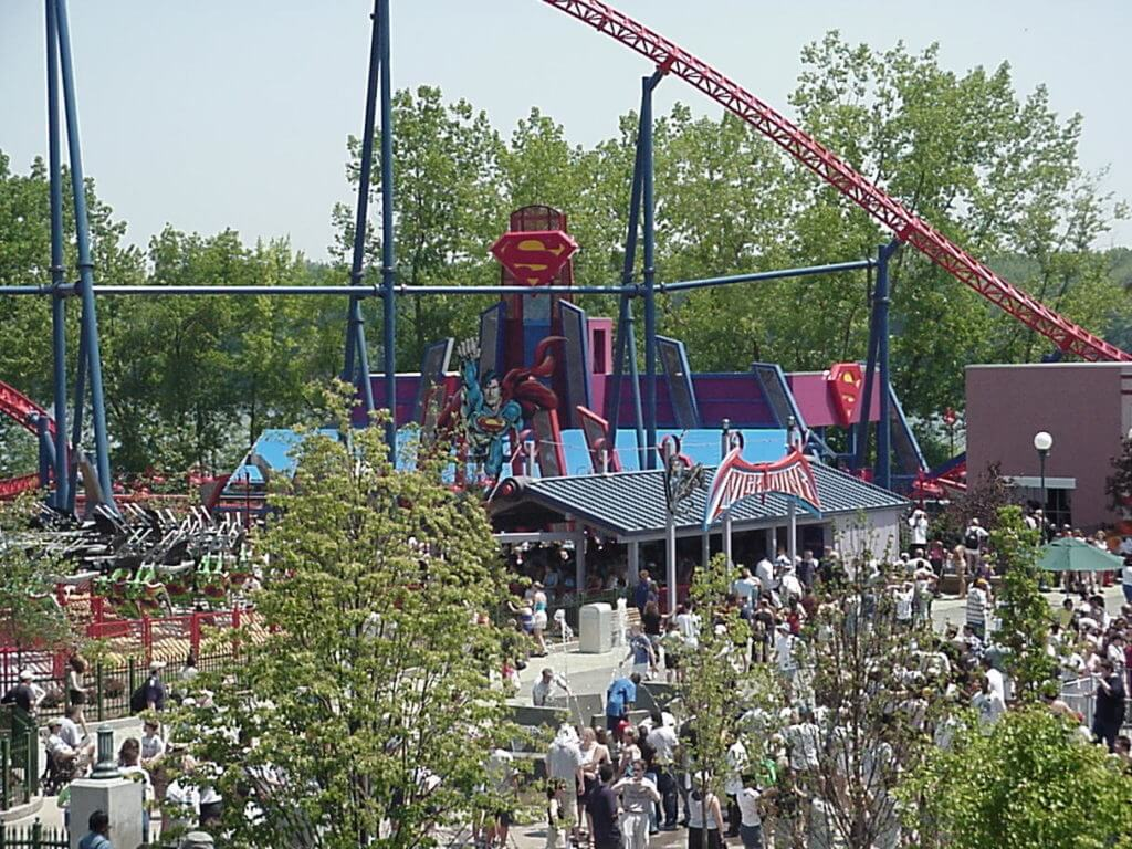 Superman Roller Coaster at Six Flags Great Adventure, Jackson, NJ